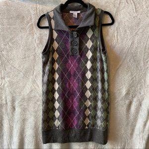 Charlotte Russe Sleeveless Argyle dress